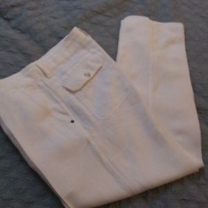 MURANO WHITE LINEN CASUAL DRESSY PANTS SIZE 36 X32